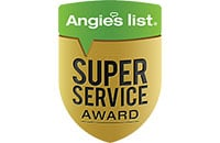 Super service award from Angie's List.